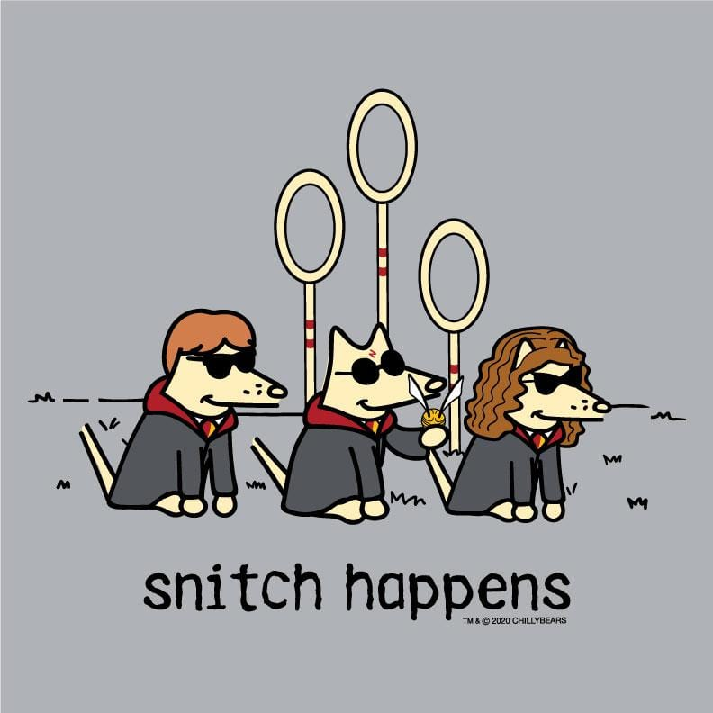 Snitch Happens - Baseball T-Shirt
