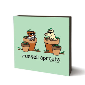 Russell Sprouts - Wooden Table Top Square
