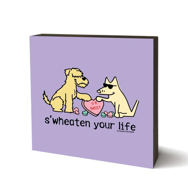 S'Wheaten Your Life - Wooden Table Top Square