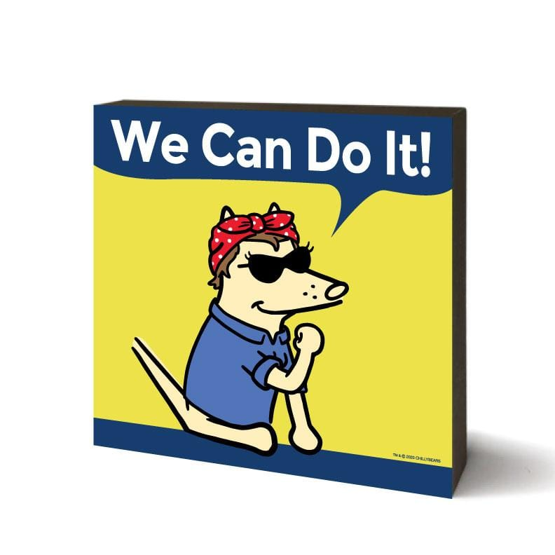 We Can Do It 2 - Wooden Table Top Square