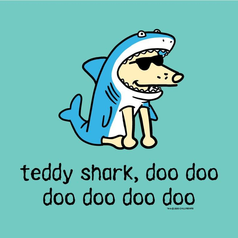 Teddy Shark - Ladies T-Shirt V-Neck