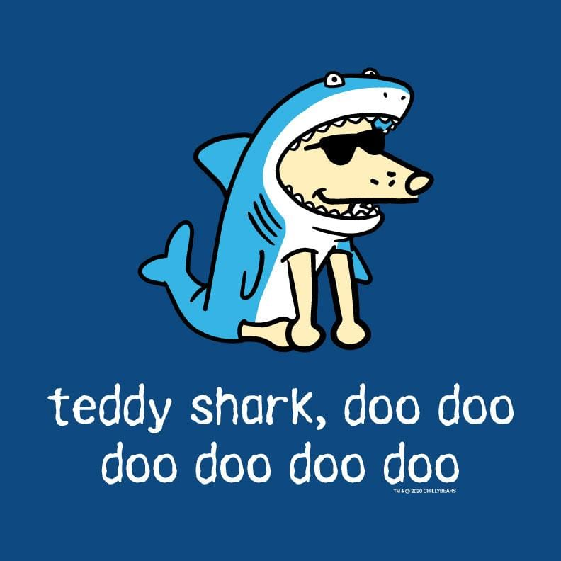 Teddy Shark - Ladies Curvy V-Neck Tee