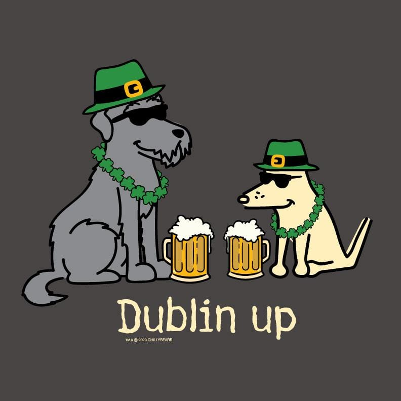 Dublin Up With The Irish - Ladies Curvy V-Neck Tee