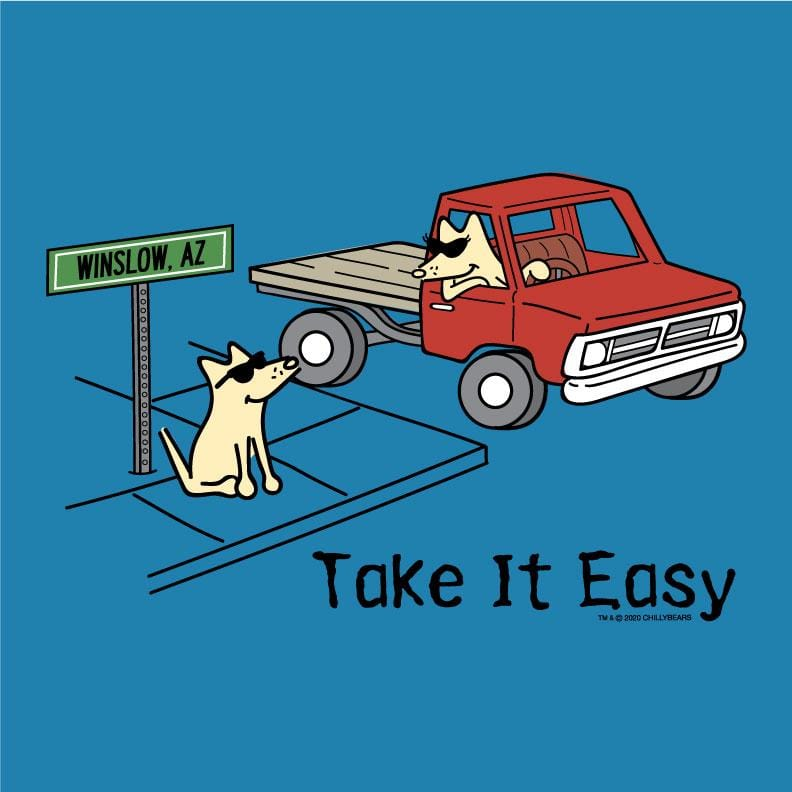Take It Easy  - Ladies T-Shirt V-Neck
