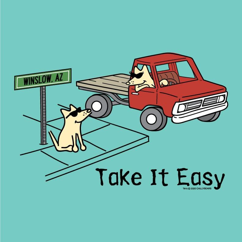 Take It Easy - Ladies Curvy V-Neck Tee