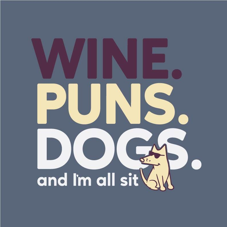 Wine Puns Dogs - Classic Tee