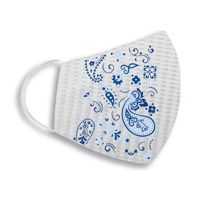 Classic Blue Paisley - Face Mask