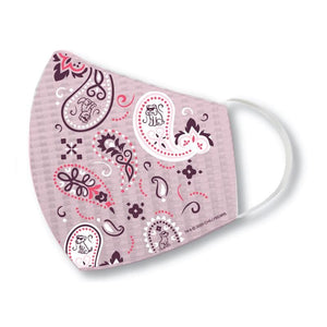 Pink Paisley - Face Mask