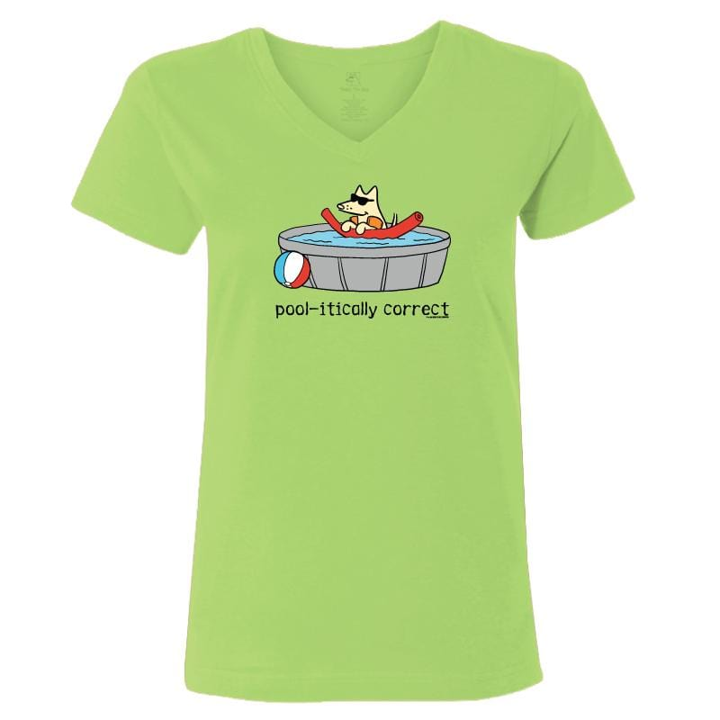 Pool-itically Correct - T-Shirt Ladies V-Neck