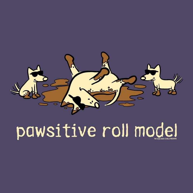 Pawsitive Roll Model - Ladies Curvy V-Neck Tee