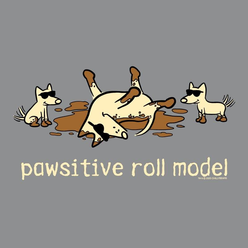 Pawsitive Roll Model - Long-Sleeve Hoodie T-Shirt