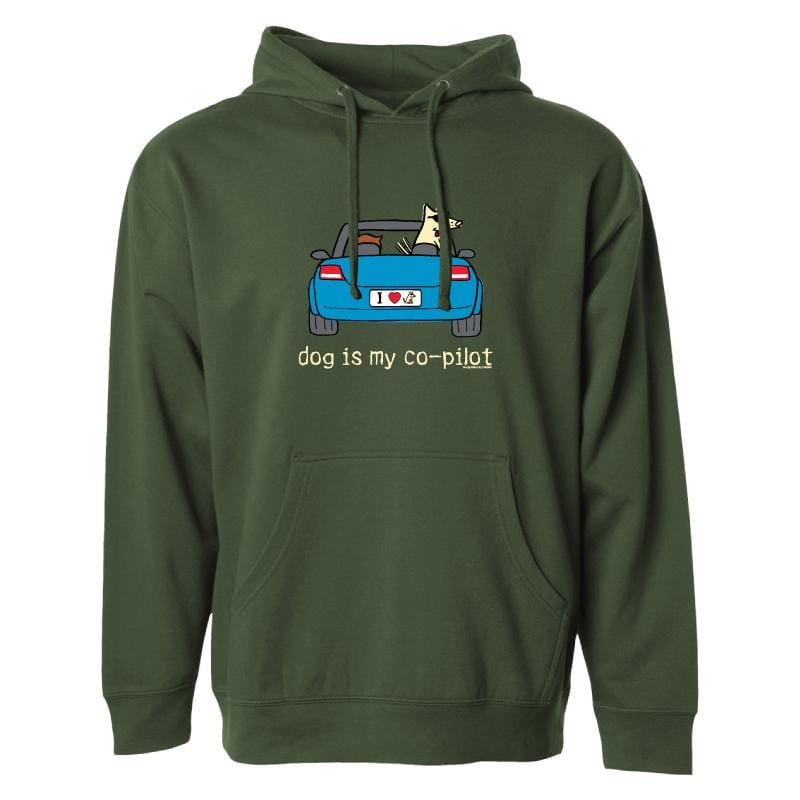 Dog Is My Co-Pilot - Sweatshirt Pullover Hoodie