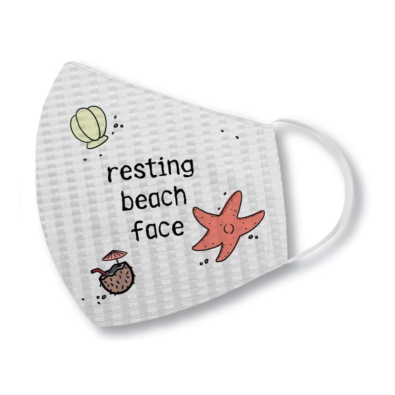 Resting Beach Face - Face Mask
