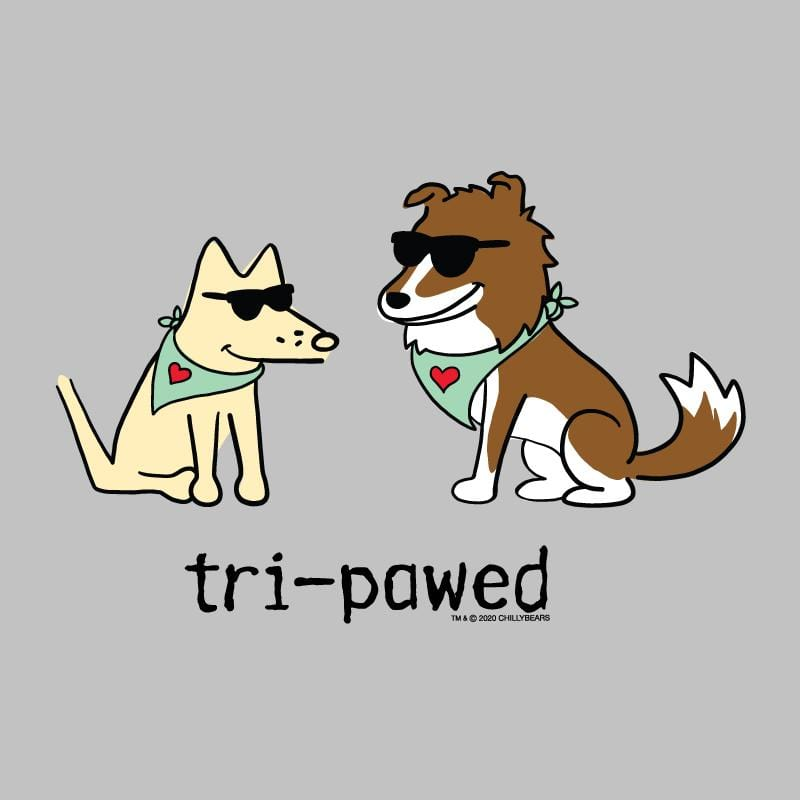 Tri-Pawed - Ladies T-Shirt V-Neck