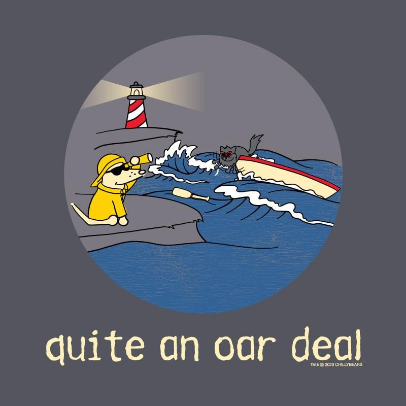 Quite An Oar Deal - Long Sleeve T-Shirt Hoodie