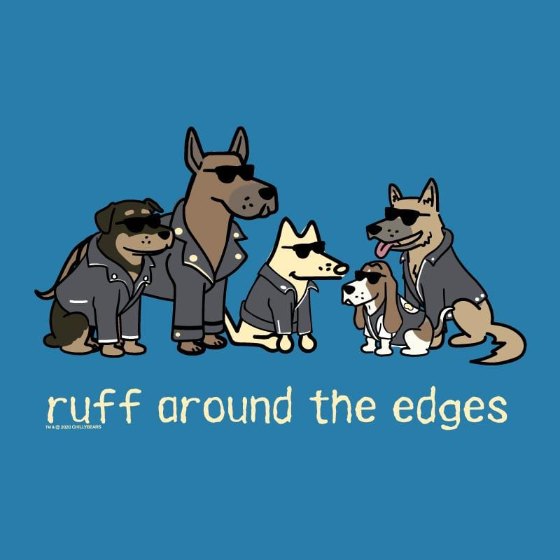 Ruff Around The Edges - Ladies T-Shirt V-Neck