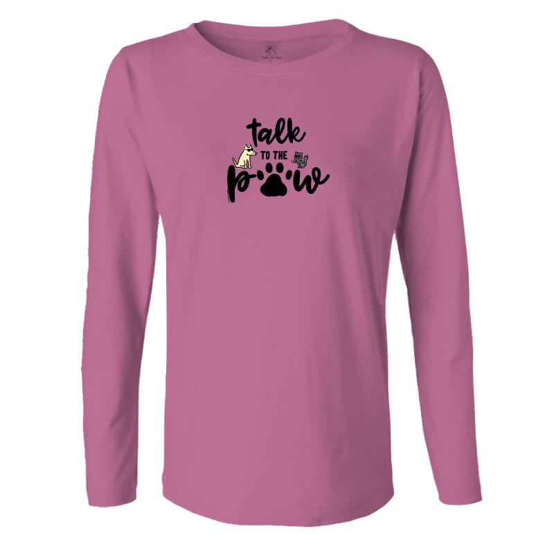 Talk To The Paw - Ladies Long-Sleeve T-Shirt