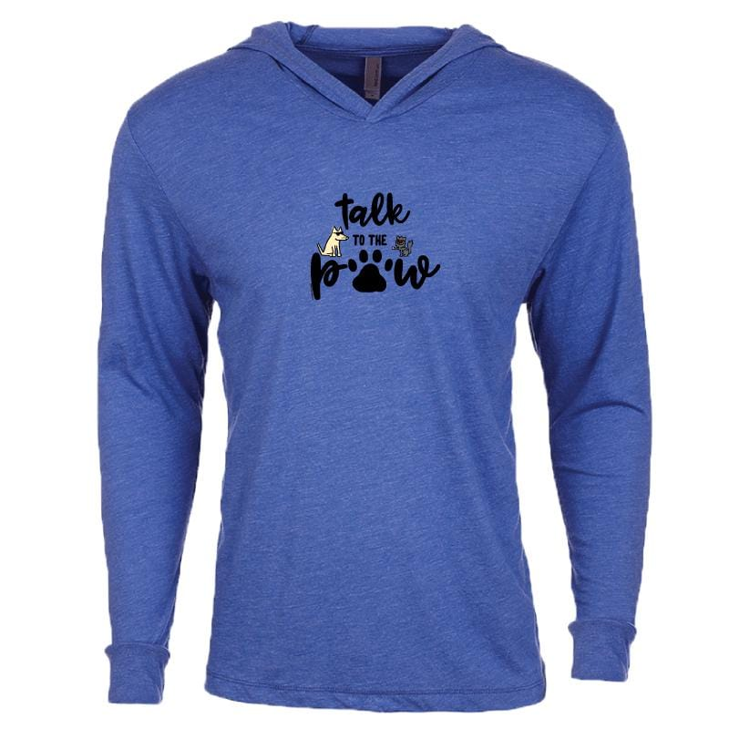 Talk To The Paw - Long-Sleeve Hoodie T-Shirt