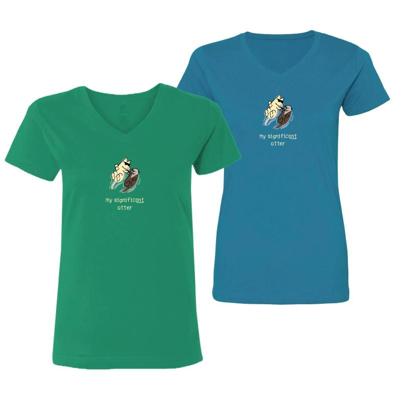 My Significant Otter - Ladies T-Shirt V-Neck