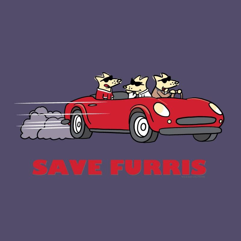 Save Furris - Ladies Curvy V-Neck Tee
