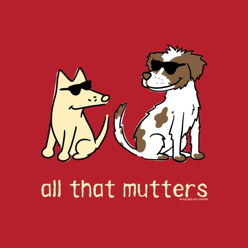 All That Mutters - Ladies Curvy V-Neck Tee