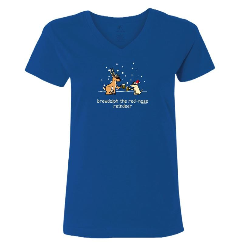 Brewdolph - Ladies T-Shirt V-Neck