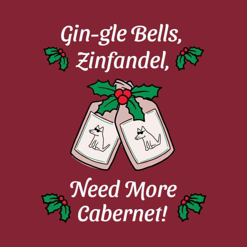 Gin-gle Bells - Ladies T-Shirt V-Neck