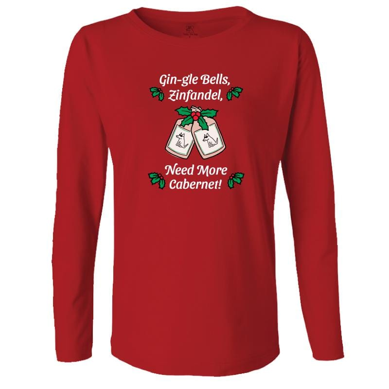 Gin-gle Bells - Ladies Long-Sleeve T-Shirt