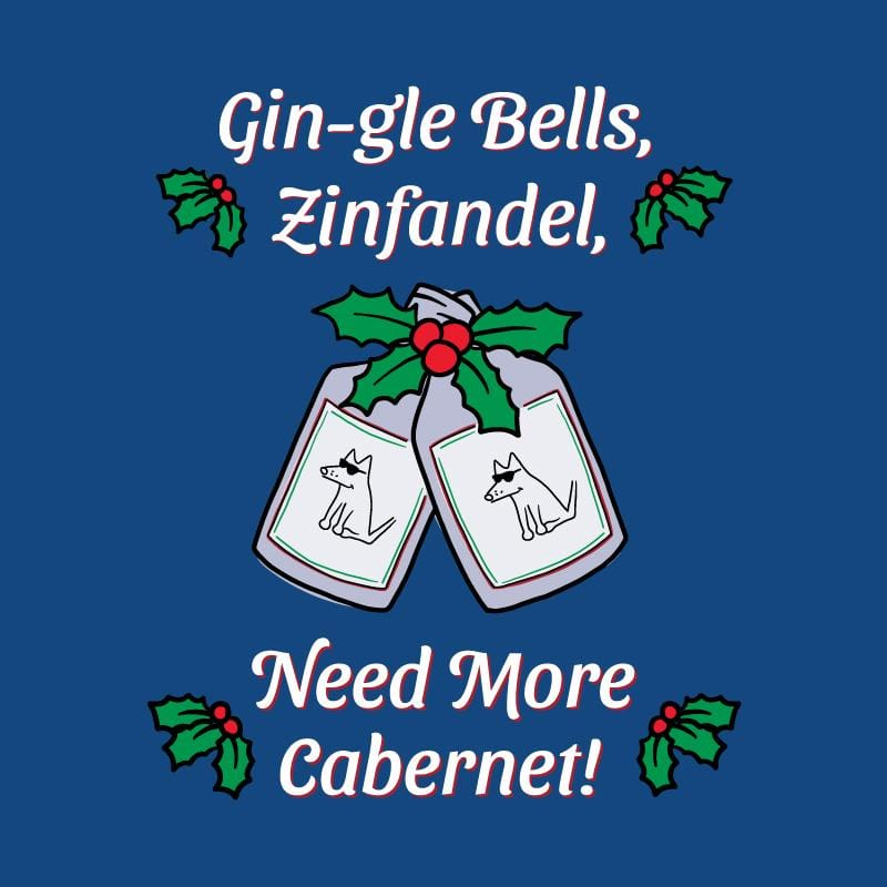 Gin-gle Bells - Ladies Curvy V-Neck Tee