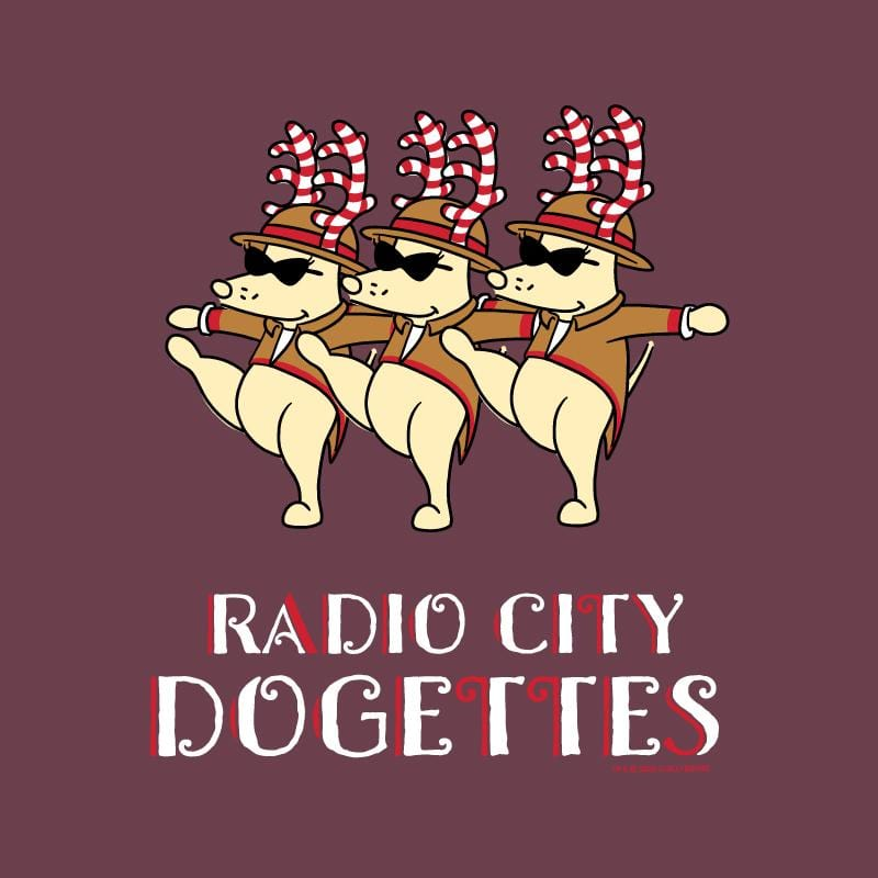 Radio City Dogettes - Ladies T-Shirt V-Neck