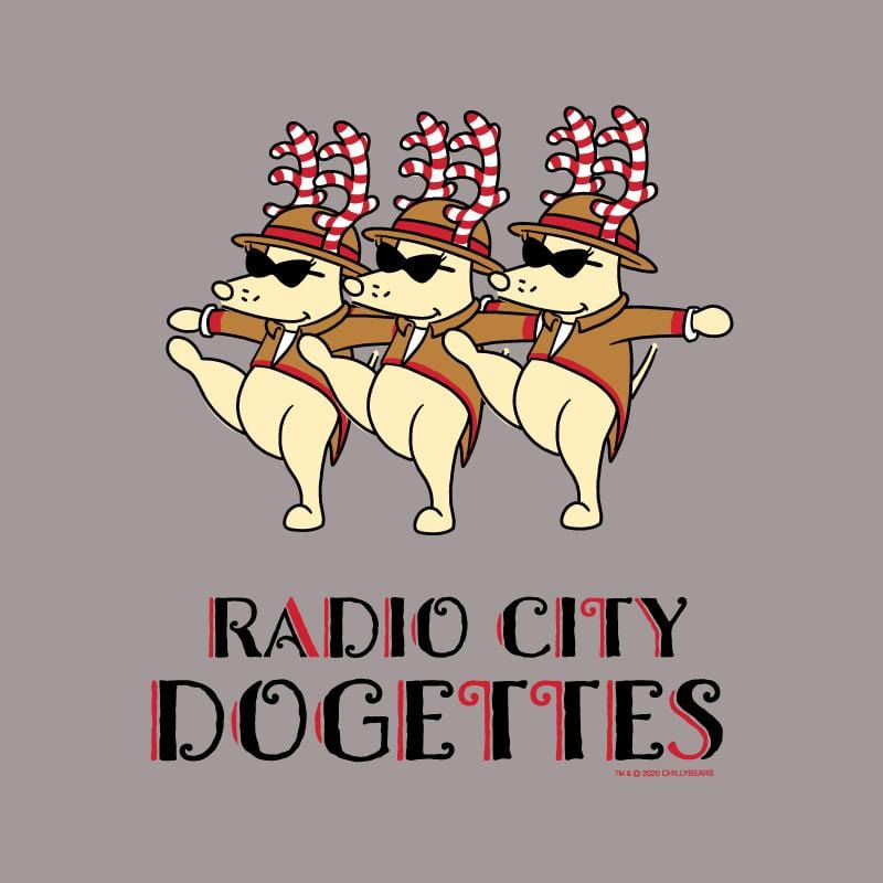 Radio City Dogettes - Ladies Curvy V-Neck Tee