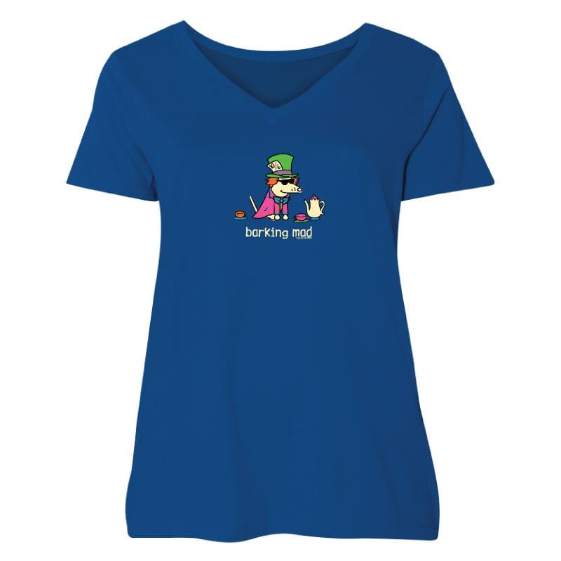 Barking Mad - Ladies Curvy V-Neck Tee