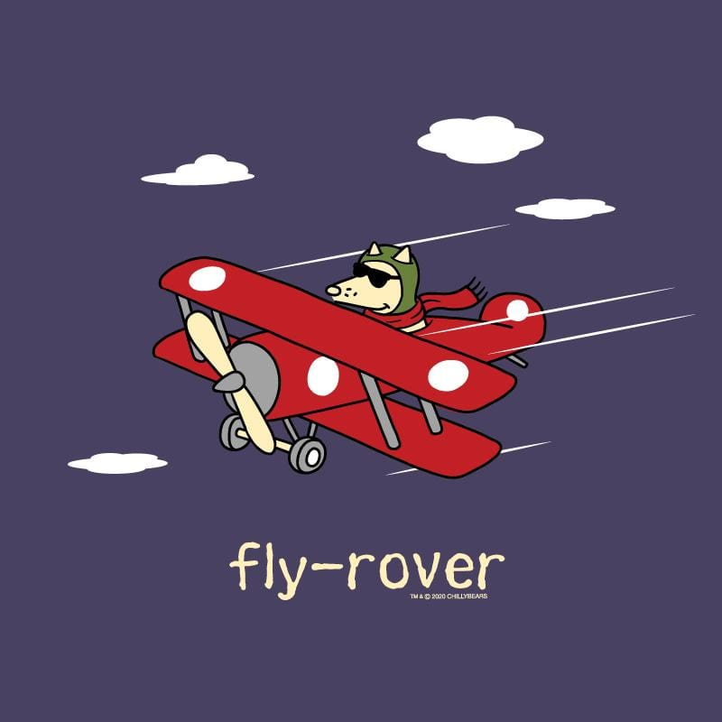 Fly-Rover - Ladies Curvy V-Neck Tee