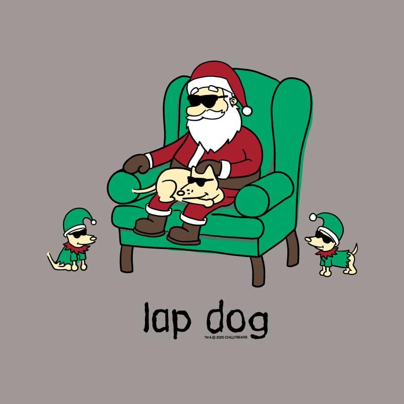 Lap Dog - Ladies Curvy V-Neck Tee