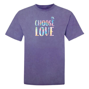 Choose Love - Big Tie Dye Letters - Classic Tee
