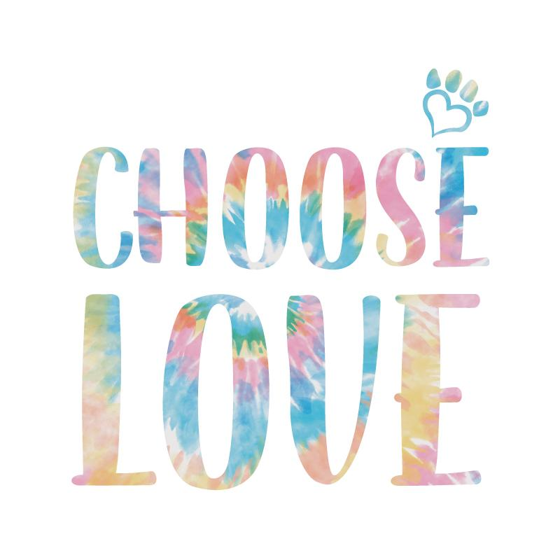 Choose Love Big Tie Dye Letters - Coffee Mug