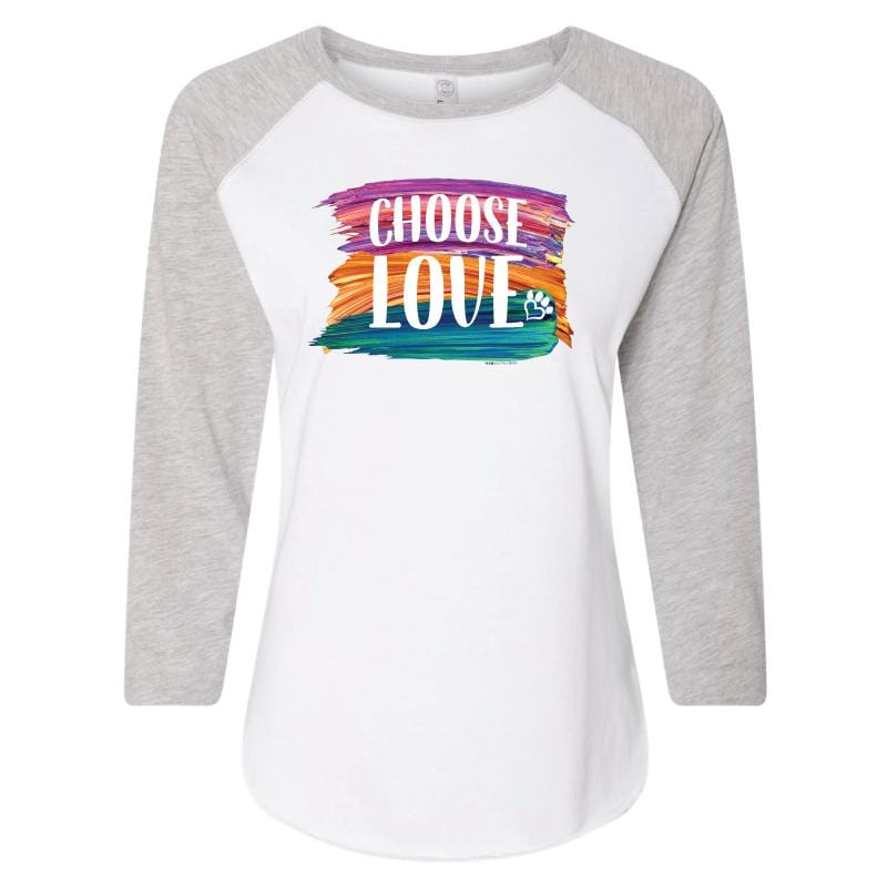 Choose Love Brush - Ladies Baseball T-Shirt