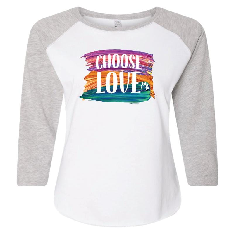 Choose Love Brush - Ladies Curvy Baseball Tee