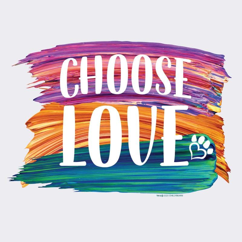 Choose Love Brush - Ladies Cropped Hoodie