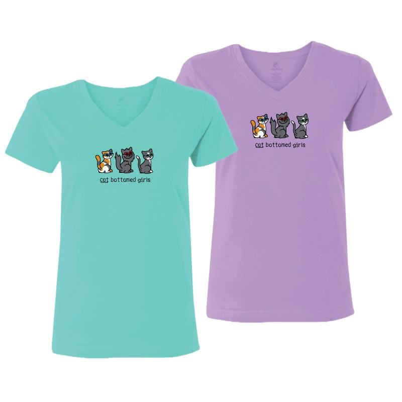 Cat Bottomed Girls - Ladies T-Shirt V-Neck