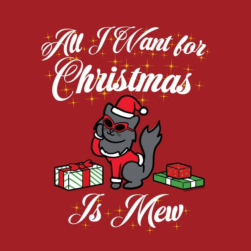 All I Want For Christmas Is Mew - Ladies Long-Sleeve T-Shirt