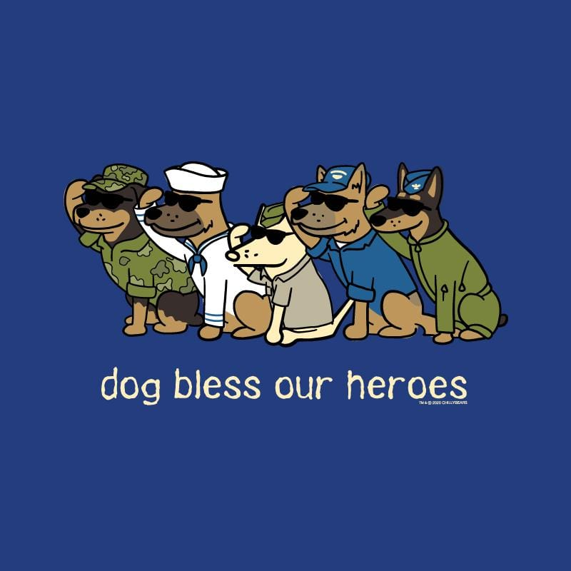 Dog Bless Our Heroes - Ladies Long-Sleeve T-Shirt