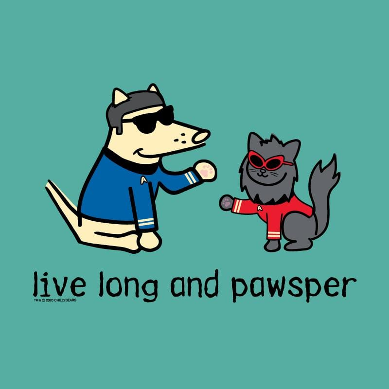 Live Long And Pawsper - Ladies T-Shirt V-Neck