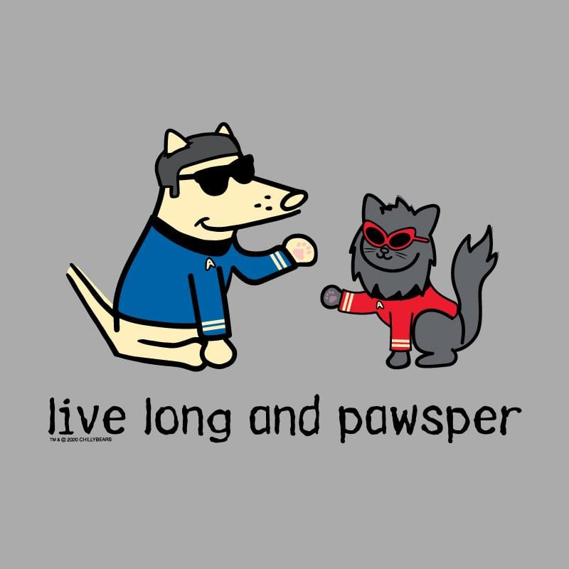 Live Long And Pawsper - Ladies Long-Sleeve T-Shirt