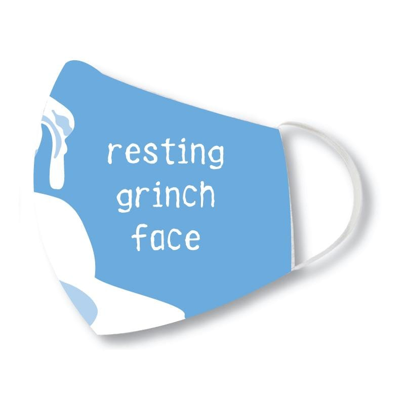Resting Grinch Face - Face Mask