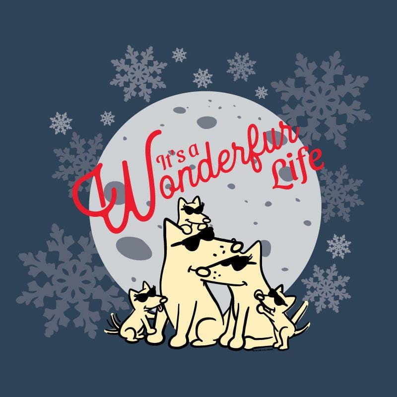 It's A Wonderfur Life - Ladies T-Shirt V-Neck