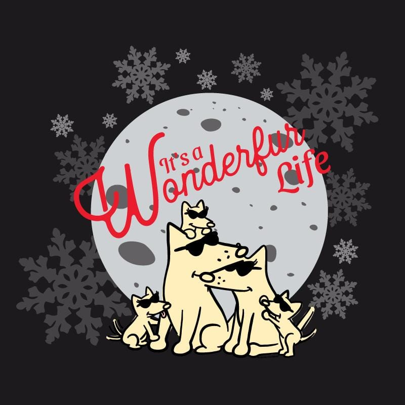 It's A Wonderfur Life - Ladies Curvy V-Neck Tee