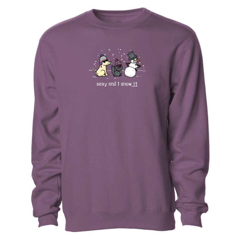 Sexy And I Snow It - Crew Neck Sweatshirt