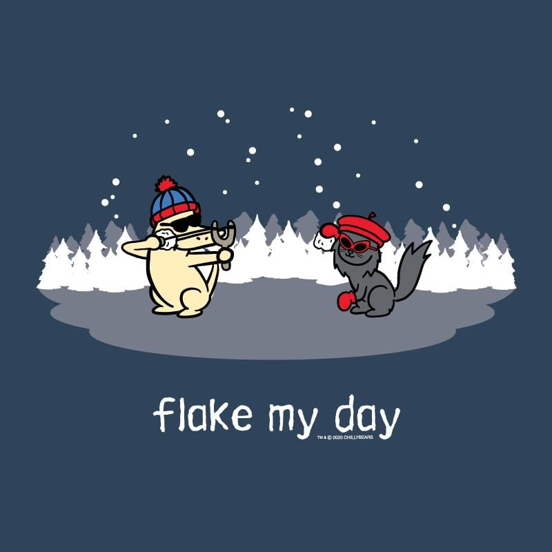 Flake My Day - Ladies T-Shirt V-Neck