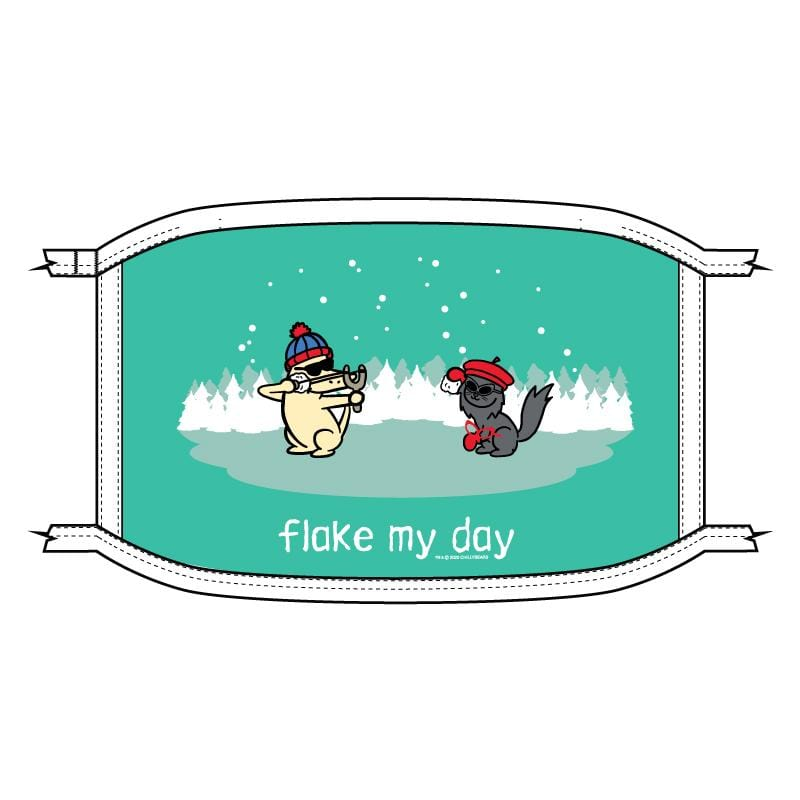 Flake My Day - Face Mask